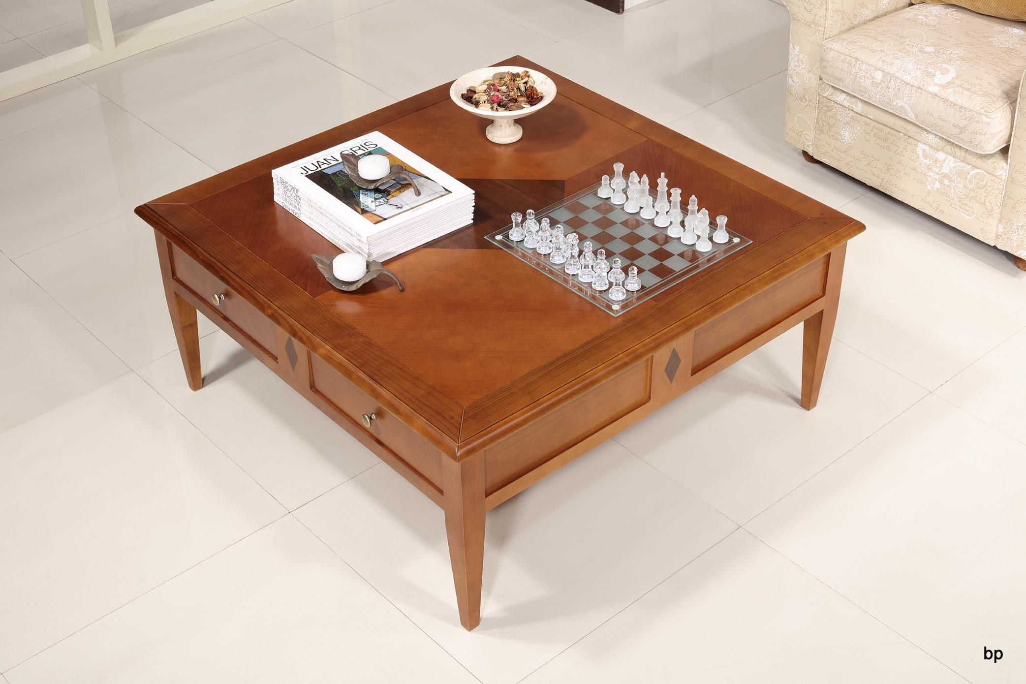 table basse en merisier de style directoire meuble en merisier massif. Black Bedroom Furniture Sets. Home Design Ideas