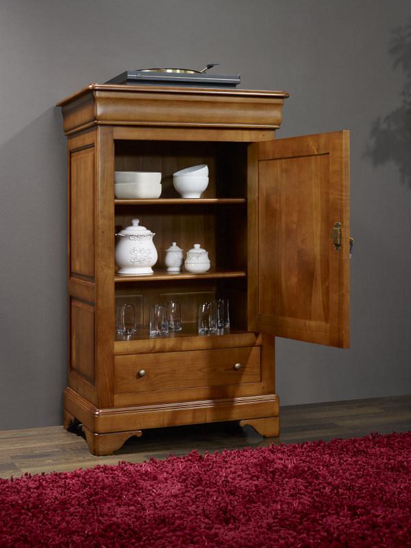fromager camille en merisier massif de style louis philippe meuble en merisier massif. Black Bedroom Furniture Sets. Home Design Ideas
