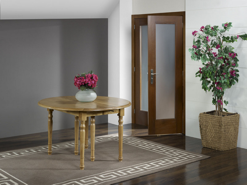 table ronde volets florian en ch ne massif diam tre 120 de style louis philippe 3 allonges de. Black Bedroom Furniture Sets. Home Design Ideas