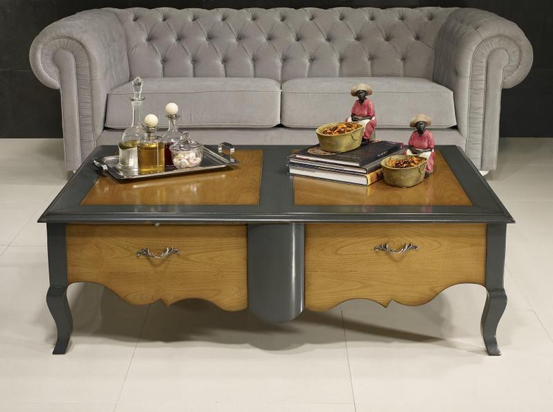 Table basse rectangulaire zo de style louis xv en - Table basse de style ...