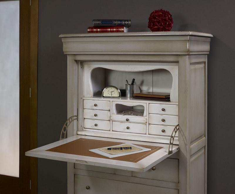 secr taire julie en merisier massif de style louis philippe finition merisier gris antiquaire. Black Bedroom Furniture Sets. Home Design Ideas