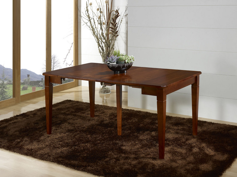 awesome console ou table extensible cline en merisier de style louis philippe ucbrue bons plans. Black Bedroom Furniture Sets. Home Design Ideas