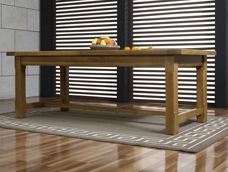 Table De Ferme Rectangulaire Axel En Ch Ne Massif 220x100 2 Allonges De 45 Cm Meuble En