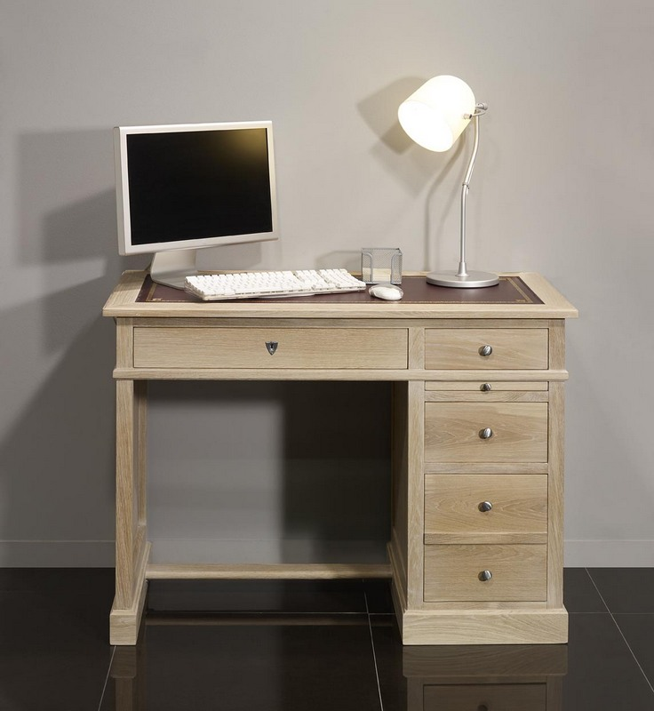 petit bureau luc en ch ne de style louis philippe finition. Black Bedroom Furniture Sets. Home Design Ideas