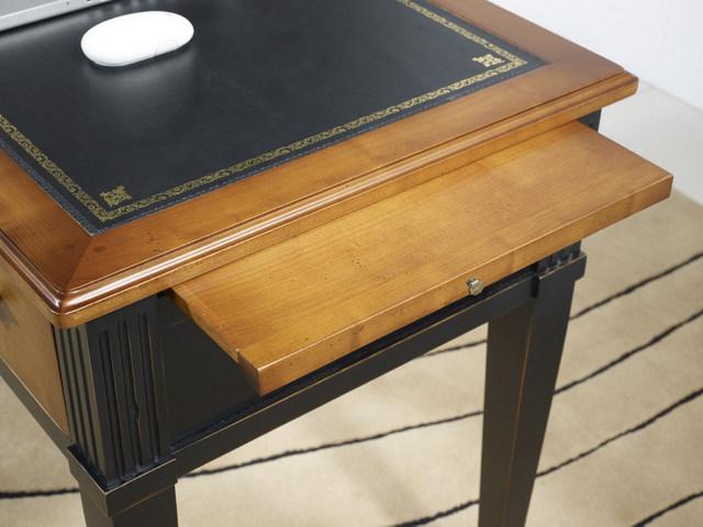 bureau 3 tiroirs 1 2 ministre b rang re en merisier de style directoire noir et merisier. Black Bedroom Furniture Sets. Home Design Ideas