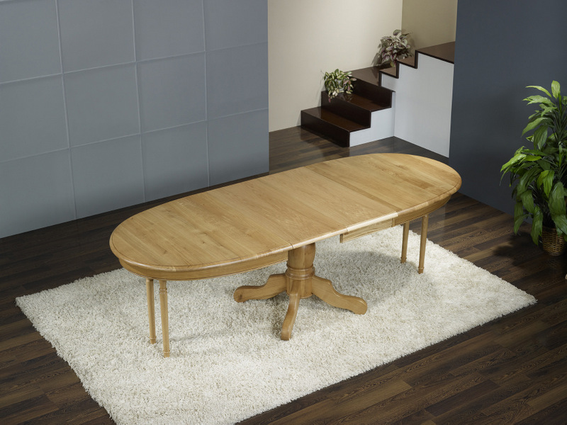 Table ovale pied central en ch ne massif de style louis philippe 170 110 3 - Table ovale design pied central ...
