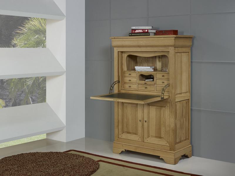 secr taire jade en ch ne massif de style louis philippe meuble en ch ne massif. Black Bedroom Furniture Sets. Home Design Ideas
