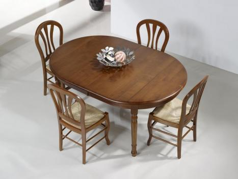 table ovale 160x120 en merisier massif de style louis philippe meuble en merisier massif. Black Bedroom Furniture Sets. Home Design Ideas