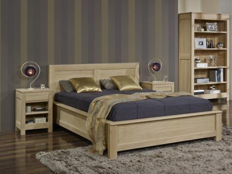 lit collection nature 160 200 en ch ne massif finition ch ne naturel bross meuble en ch ne massif. Black Bedroom Furniture Sets. Home Design Ideas