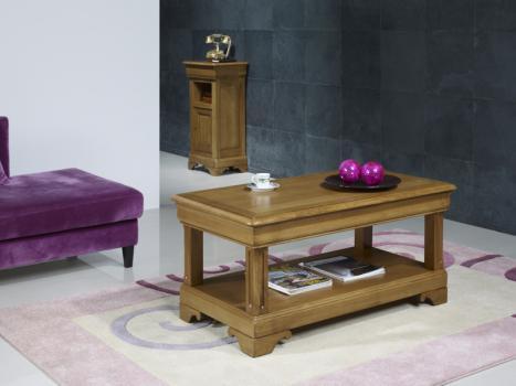table basse en ch ne de style louis philippe 1 tiroir de chaque cot meuble en ch ne massif. Black Bedroom Furniture Sets. Home Design Ideas