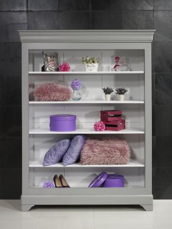 biblioth que thiago en ch ne massif de style louis philippe 4 tag res meuble en ch ne massif. Black Bedroom Furniture Sets. Home Design Ideas