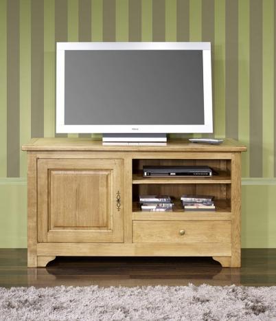 meuble tv 16 9 me en ch ne massif de style louis philippe campagnard longueur 120 cm meuble en. Black Bedroom Furniture Sets. Home Design Ideas