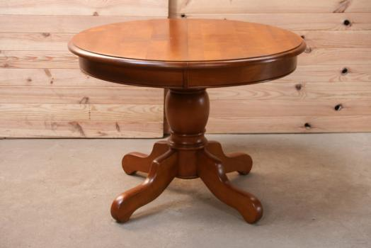 Table ronde am liediametre 105 pieds central de style for Table ronde bois pied central