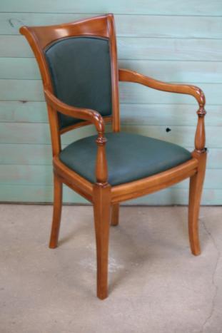 Fauteuil de style louis philippe en merisier massif meuble en merisier massif - Meuble merisier style louis philippe ...