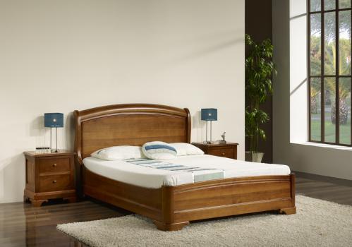 Lit lea 160x200 en merisier massif de style louis philippe - Set de chambre bois massif ...