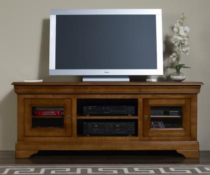 meuble tv 16 9 me en merisier massif de style louis. Black Bedroom Furniture Sets. Home Design Ideas
