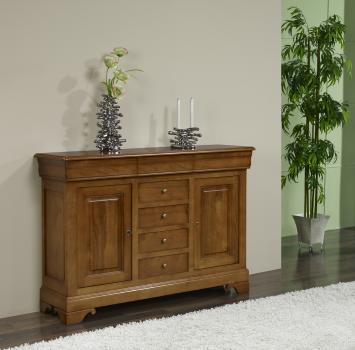 Petit buffet 2 portes a en merisier massif de style louis philippe meuble en merisier massif - Petit meuble merisier louis philippe ...